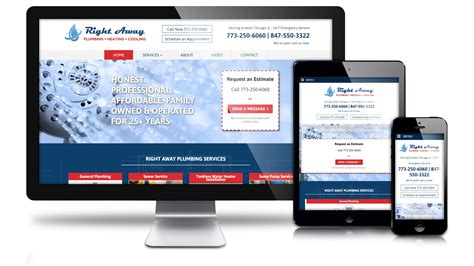 Right Away Plumbing by Web Design Portfolio Chicago Web Design Agencyweb312