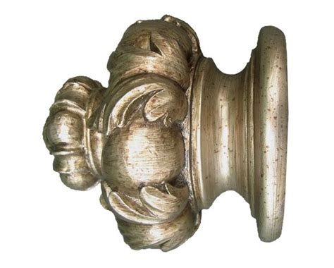 designer curtain rods and finials house parts crown finial for 2 1 4 quot drapery rods