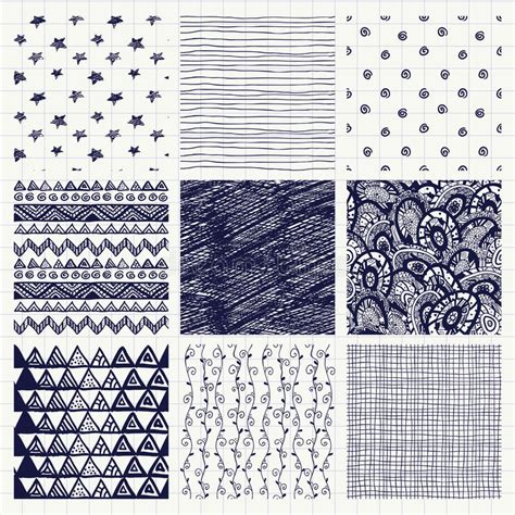 texture pattern swatches pen drawing seamless textures stock vector image 47089810