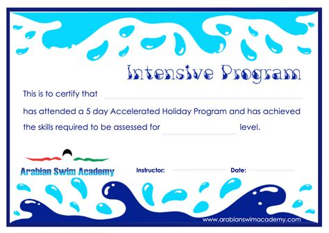 certificate templates for swimming awards swim lesson gift certificate pictures to pin on pinterest