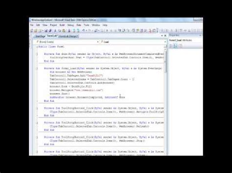visual basic advanced tutorial visual basic 2008 advanced webbrowser voice tutorial
