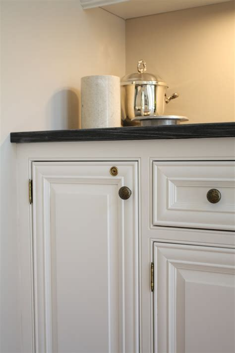 Bright locking liquor cabinet in Kitchen Traditional with
