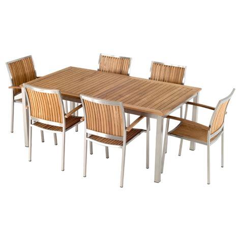 vgmgvista renava vista 7 pc outdoor dining table renava vista 7 pieces outdoor dining set brown dcg stores
