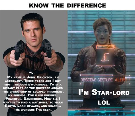 Guardians Of The Galaxy Memes - farscape of the galaxy know the difference guardians