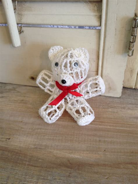 teddy bear ornament crochet teddy bear christmas tree ornament