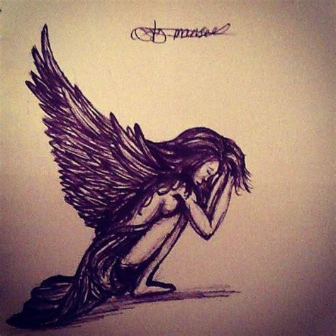 sad angel tattoo designs tattoos and designs page 58