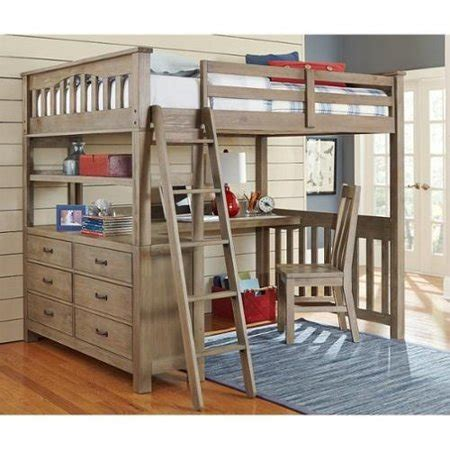 metal loft bed with desk and shelving ne highlands loft bed with desk and shelf in