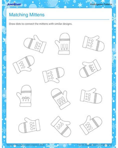 pattern matching kindergarten pattern worksheets 187 winter pattern worksheets for