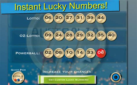 lotto lucky numbers australia and new zealand on the mac