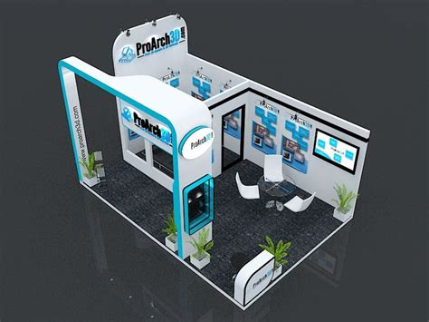 booth design free exhibition booth 3ds max model 6 mtr x 4 mtr 3 side