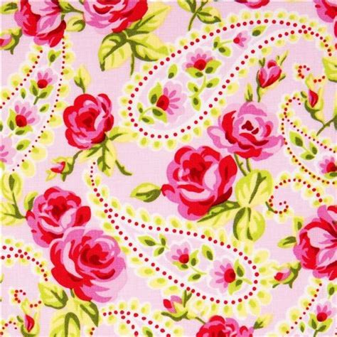 pattern for fabric roses pale pink designer fabric with roses paisley from the