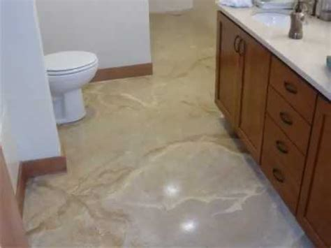 redo bathroom floor concrete bathroom floor remodel youtube