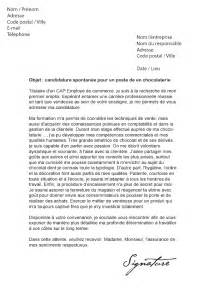 lettre de motivation vendeuse pret a porter sans experience