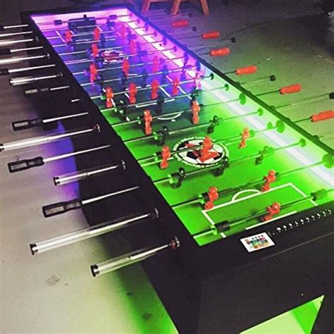 warrior table soccer 8 foosball table w leds