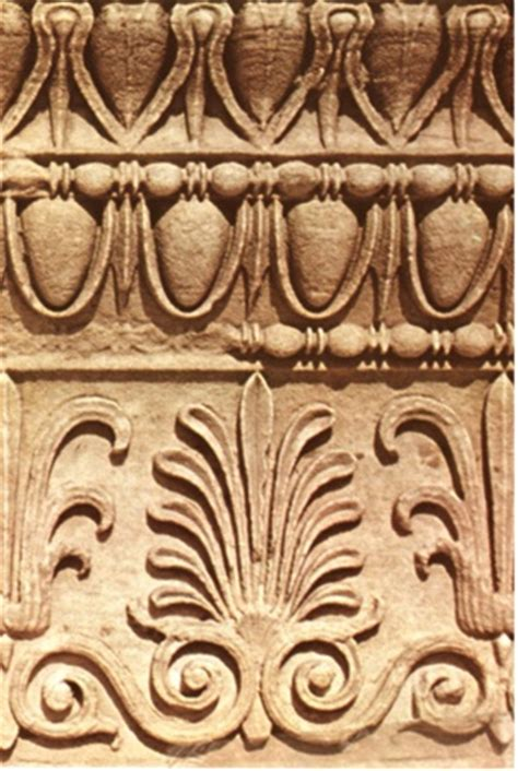 greek motif anthemion styles of antiquity pinterest