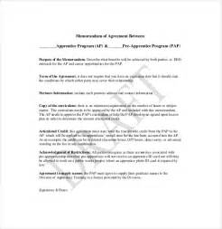 Template Memorandum Of Agreement 12 Memorandum Of Agreement Templates Free Sle Exle Format Free Premium