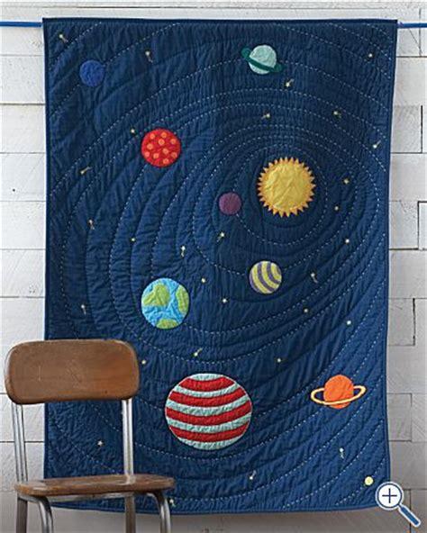 kids blue solar system bedding the land of nod kids bed design venus mars saturnus earth sun jupiter