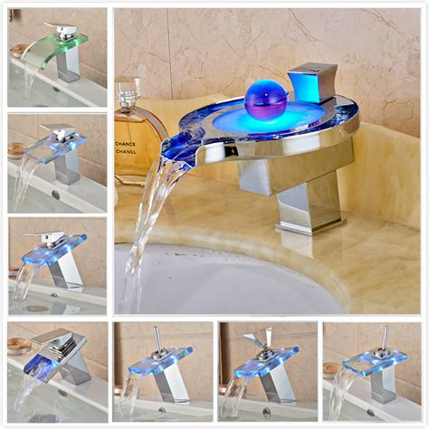 made in china custom wenzhou cheap faucet kitchen buy led rgb colors basin sink faucet deck mount waterfall