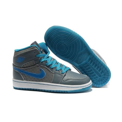 wholesale nike shoes air 1 high grey blue discount nike shoes
