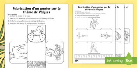 Travaux Manuel Pour Paques by New Travaux Manuels Panier De P 226 Ques 233 V 233 Nement