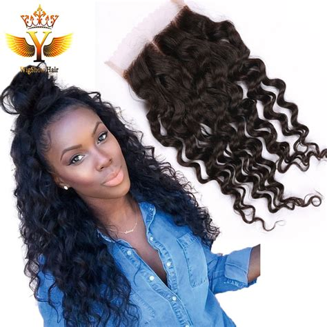 brazilian wet and wavy hair with closure free part lace closure with brazilian deep curly closure wet and wavy closure bleached