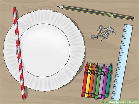 How To Make A Sundial With A Paper Plate - 3 ways to make a sundial wikihow