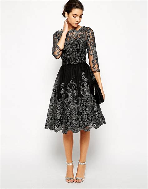 Premium Glitter Elegance Premium Dress 60084 chi chi black metallic lace prom wedding dress uk 8 10 12 14 16 ebay