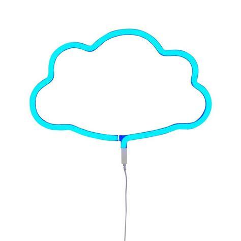 applique neon applique led nuage bleu l38cm neon nuage applique a
