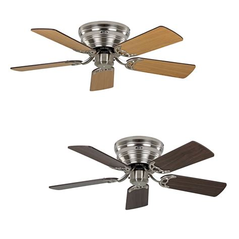 ceiling fan classic flat brushed chrome extra flat in