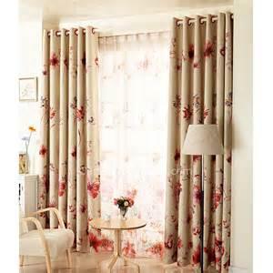 Bedroom Ensembles fleurs et ivoire rouge tissu mod 232 les chauds de rideaux de