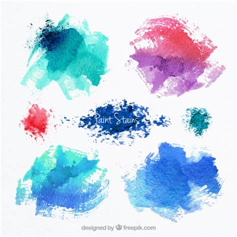 abstract paint stains vector free