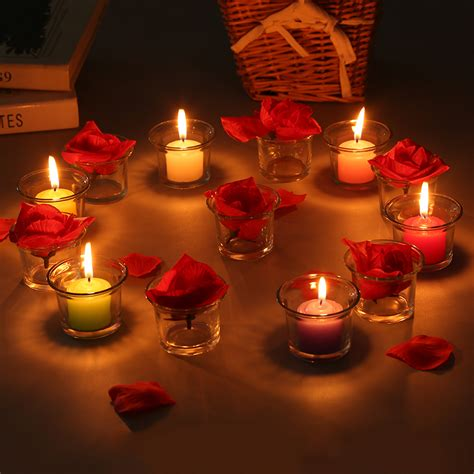 candle light decoration at home 1 x romantic candlelight dinner handmade glass candle cup