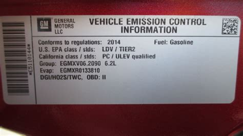 Ducati Emissions Sticker by Emission Sticker California Eligible Corvetteforum