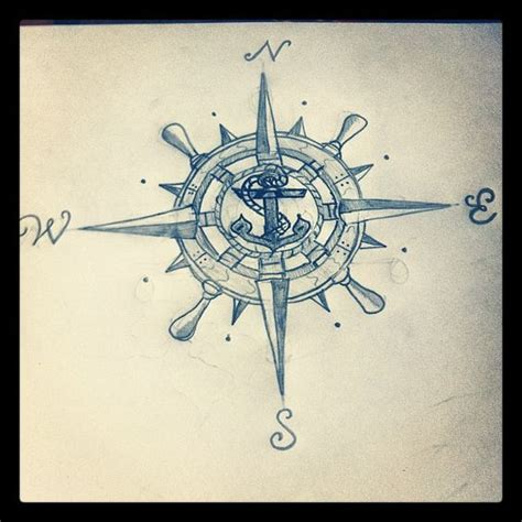 compass tattoo with anchor compass rose wheel anchor talent even though i got my