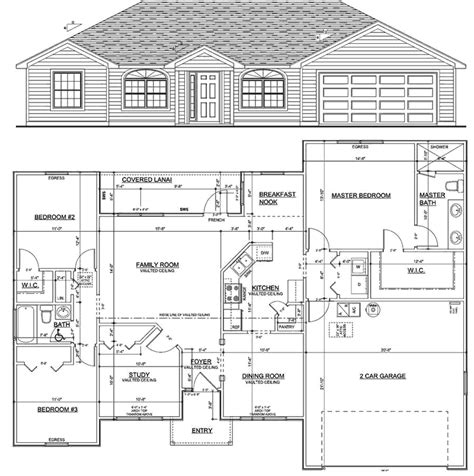 3 Bedroom Ranch Floor Plans by Homes Up To 1700 Sqft