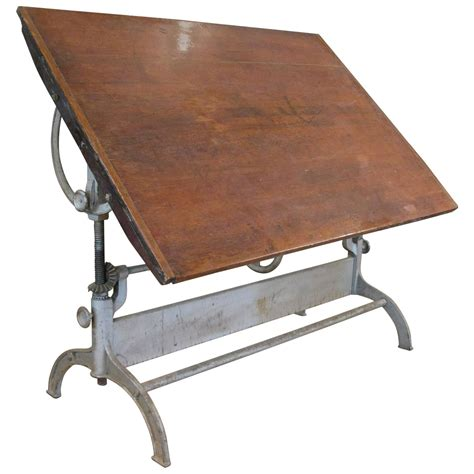 adjustable drafting table antique industrial cast iron adjustable drafting table at