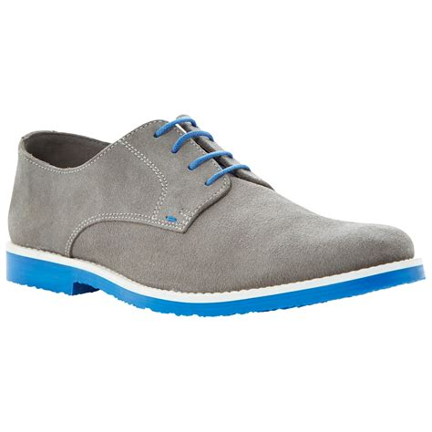 dune bailey suede desert shoes in gray for grey lyst