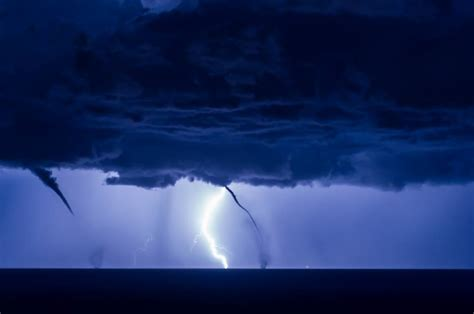 Waterspout With Lightning by Waterspout And Lightnings In Italy Strange Sounds