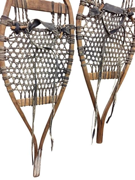 Handmade Snowshoes - antique handmade trapper snowshoes vintagewinter