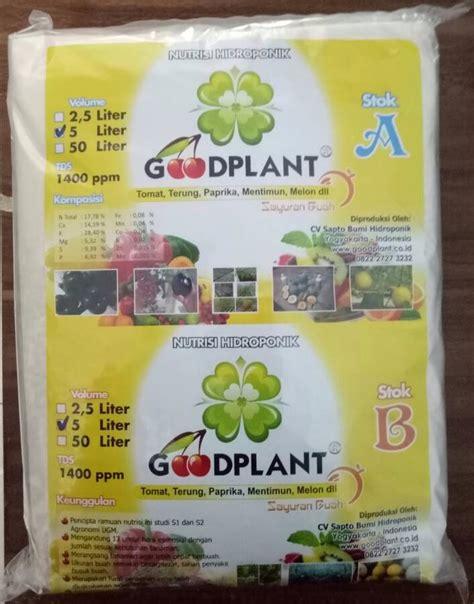 Nutrisi Ab Mix Sayuran Buah Kemasan Ekonomis Untuk 100 Liter Larutan goodplant nutrisi ab mix buah 5 liter bibitbunga