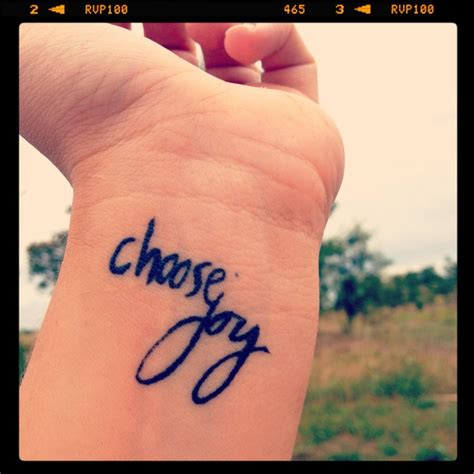 joy tattoo on wrist today i choose joy tattoos www imgkid com the image