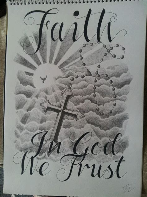 in god we trust tattoo design ink pinterest tattoo