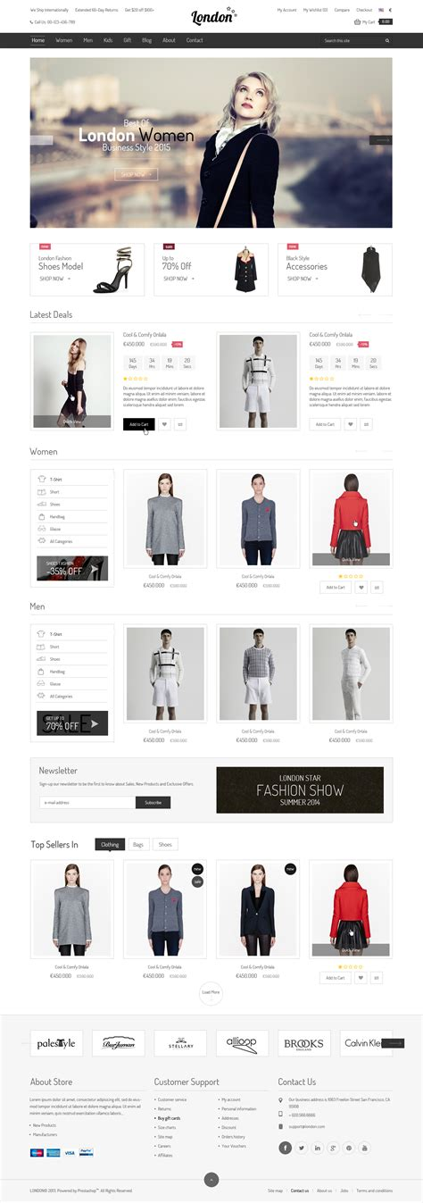 london themes prestashop london stars responsive prestashop theme by kutethemes