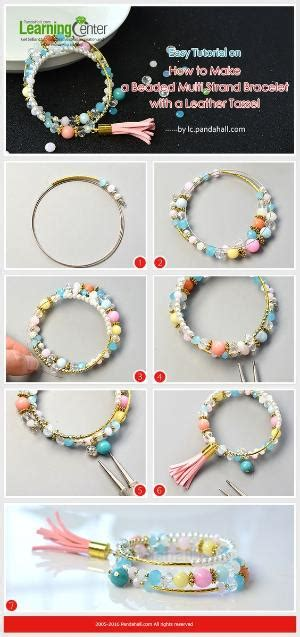Bangle Tassel Simple Rock Chic Raebfb how to make chic and multi strand beaded pearl bracelet from lc pandahall jewelry