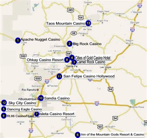 indian casinos in texas map map of new mexico casinos mexico map