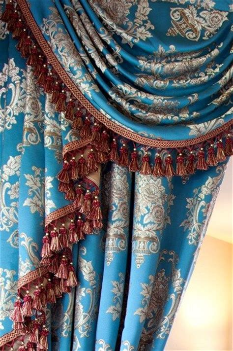 Blue And Gold Valance 1000 Images About Window Treatments On