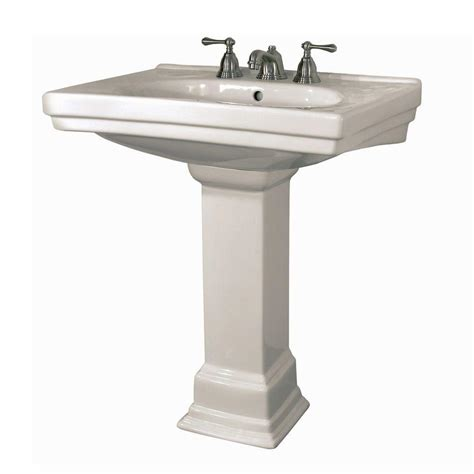 bathroom basin sink kohler memoirs classic 24 in ceramic pedestal sink basin