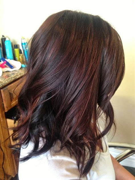 dark brown lowlights and highlight hair color with side hair highlights for dark hair pictures photos and images