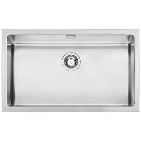 Smeg Kitchen Sinks Smeg Vqr71 Mira Kitchen Sink Single Bowl Brushed Stainless Steel F