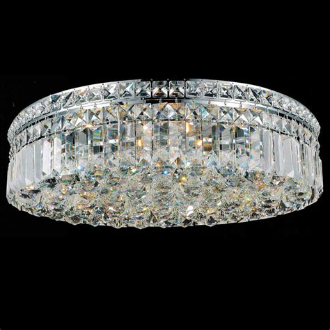 Flush Mount Chandelier Brizzo Lighting Stores 20 Quot Bossolo Transitional Flush Mount Chandelier Polished